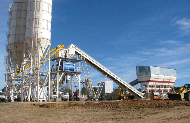 Cement Ready Mix Plant : Concrete batching plant commercial