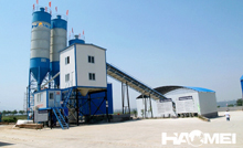 Ready mix concrete batch plant